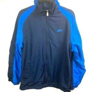 vintage nike zip up track jacket blue men's large